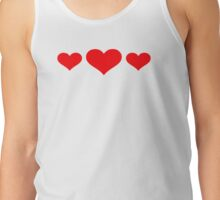Three red hearts Tank Top