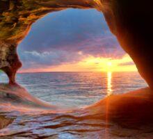 Sea Cave on Lake Superior Sticker