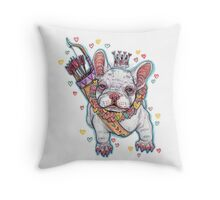 Frenchie Fever Throw Pillow