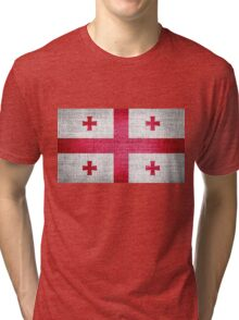 Georgia Flag Tri-blend T-Shirt
