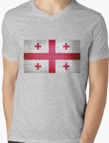 Georgia Flag Mens V-Neck T-Shirt