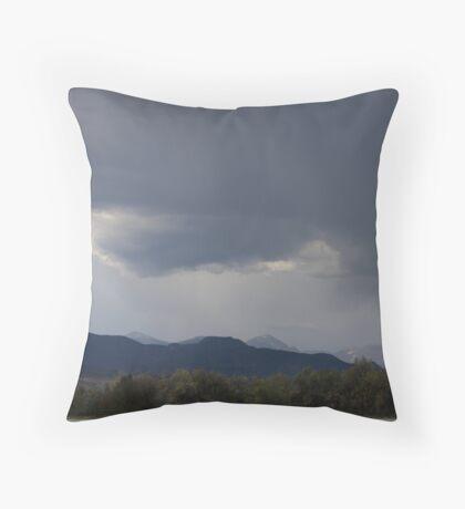 Ominous Skies... Throw Pillow