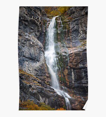 Awe Inspiring Waterfall Poster