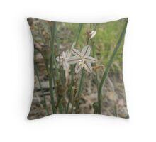 Striped Wildflower Throw Pillow