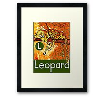 L is for Leopard Framed Print