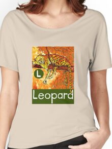 L is for Leopard Women's Relaxed Fit T-Shirt