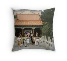 Buddhist Fragrance Hall, Summer Palace Throw Pillow