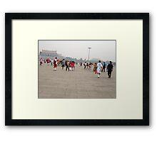 Tiananmen Square in Beijing Framed Print