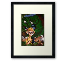 All That Was Left of Him Was His Yellow Hat Framed Print