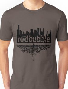 From Skyscrapers to Grassroots : Black Version Unisex T-Shirt