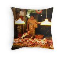 Meat Market Throw Pillow
