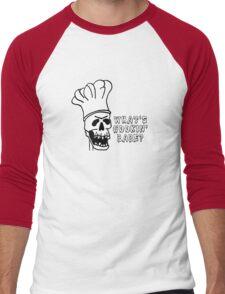 Skeleton Chef Men's Baseball ¾ T-Shirt