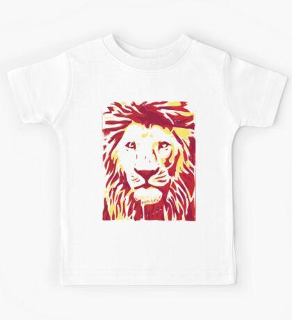 Lovely Lion Stencil (Warm) Kids Tee