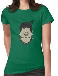 Afro Buddha Womens Fitted T-Shirt