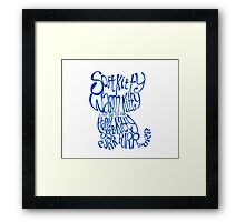 Soft Kitty Warm Kitty - blue Framed Print