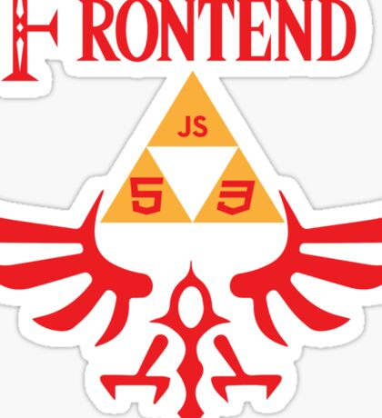 The Legend of Frontend Sticker