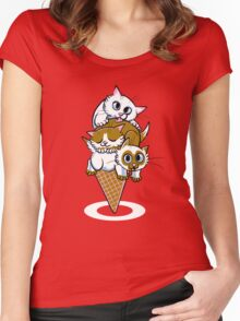 Kitten Cone Women's Fitted Scoop T-Shirt