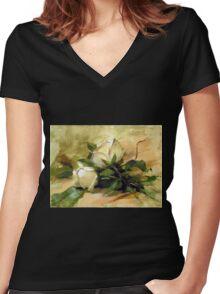 Debbie's Garden Women's Fitted V-Neck T-Shirt