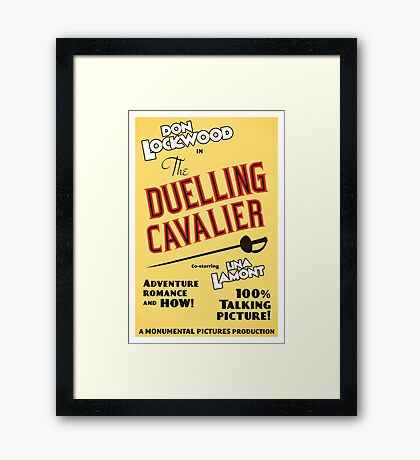 "Singin' in the Rain - ""The Duelling Cavalier"" (Revisited) Framed Print"