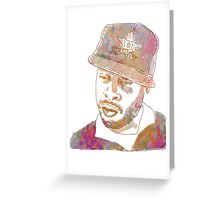 J Dilla Marble Effect Greeting Card