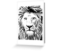 Lovely Lion Stencil (Greyscale) Greeting Card