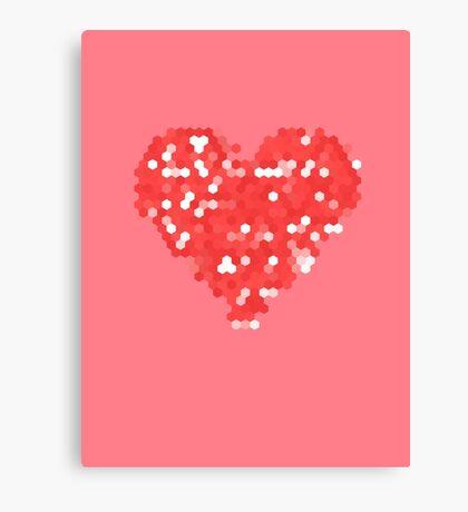 Pixel Love Canvas Print