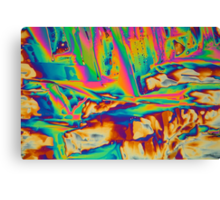 Elements: Lanthanum nitrate under a microscope  Canvas Print