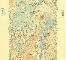Maine USGS Historical Map Big Lake 460204 1943 62500 by wetdryvac