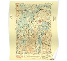 Maine USGS Historical Map Big Lake 460204 1943 62500 Poster
