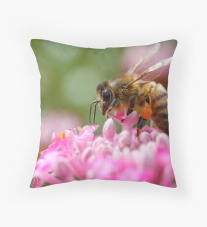 Bee Brave Throw Pillow