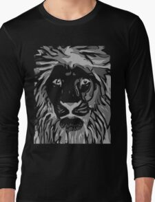 Lovely Lion Stencil (Greyscale Reverse) T-Shirt