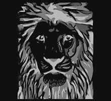 Lovely Lion Stencil (Greyscale Reverse) Long Sleeve T-Shirt