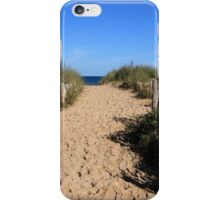 Chestnut Fence To The Beach iPhone Case/Skin