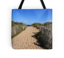 Chestnut Fence To The Beach Tote Bag