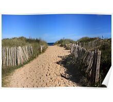 Chestnut Fence To The Beach Poster
