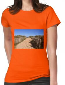 Chestnut Fence To The Beach Womens Fitted T-Shirt