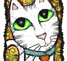 Contemporary Calico Cat by Jamie Wogan Edwards