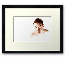 his stare is louder than your voice Framed Print