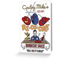 COWBOY MIKE'S BBQ SAUCE Greeting Card