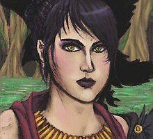 Morrigan - Mixed Media Portrait by BloodUnbound