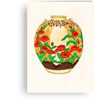 Poppy Pot Canvas Print