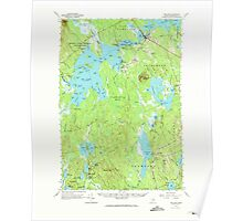 Maine USGS Historical Map Big Lake 460205 1963 62500 Poster