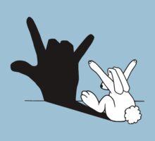 Rabbit Love Hand Shadow Kids Tee