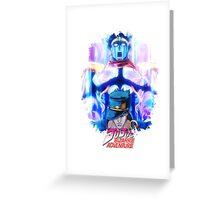 JoJo's Bizarre Adventure - Jotaro Kujo English Logo Greeting Card