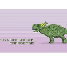Pixel Pachyrhinosaurus by David Orr