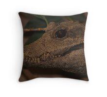 Croc smiling Throw Pillow