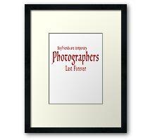 Boyfriends red Framed Print