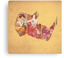 Art Noveau Rhino Canvas Print