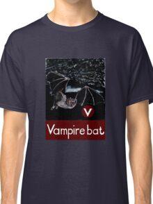 V is for Vampire bat Classic T-Shirt