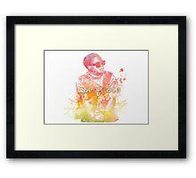 Lupe Fiasco Gradient Splash Framed Print